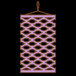 七夕飾りのフリーイラスト Clip art of tanabata-kazari