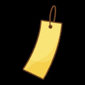 短冊のフリーイラスト Clip art of tanzaku