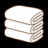 タオルのフリーイラスト Clip art of towel