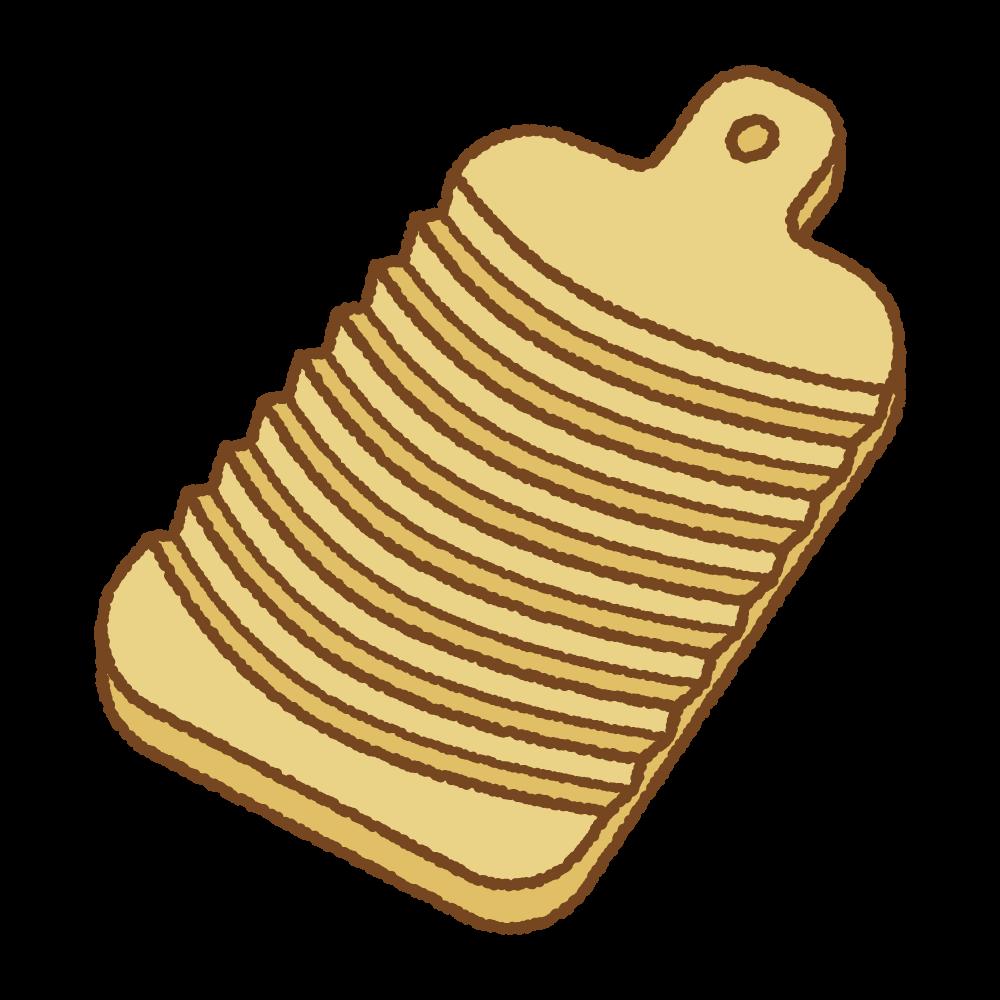 洗濯板のフリーイラスト  Clip art of washing-board