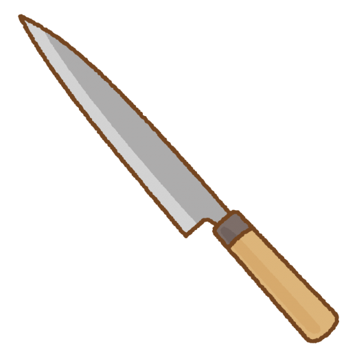 柳刃包丁のイラスト