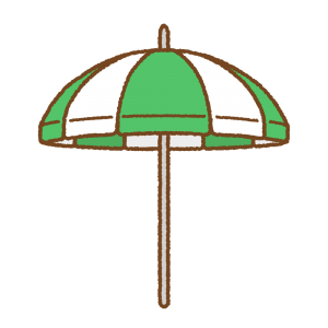 ビーチパラソルのフリーイラスト Clip art of beach-parasol