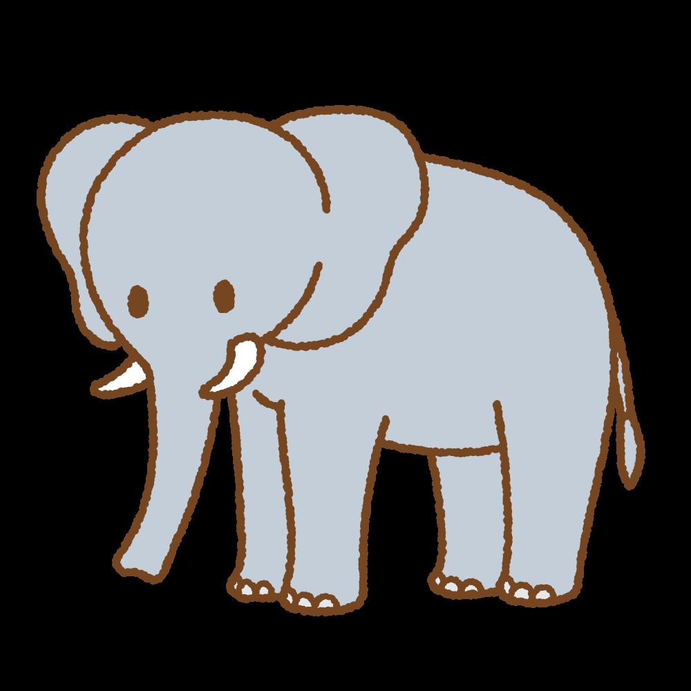 ゾウのフリーイラスト Clip art of elephant