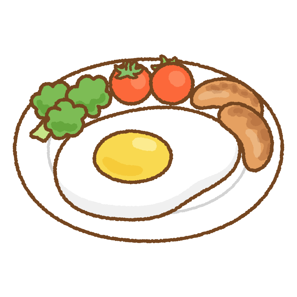 目玉焼きのフリーイラスト Clip art of fried-egg