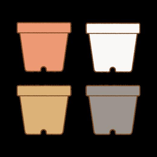 植木鉢のイラスト