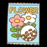 花のタネのイラスト