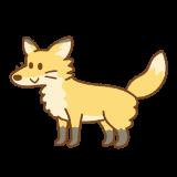 キツネのフリーイラスト Clip art of fox