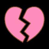 ハートブレイクのマークのフリーイラスト heart-break-mark