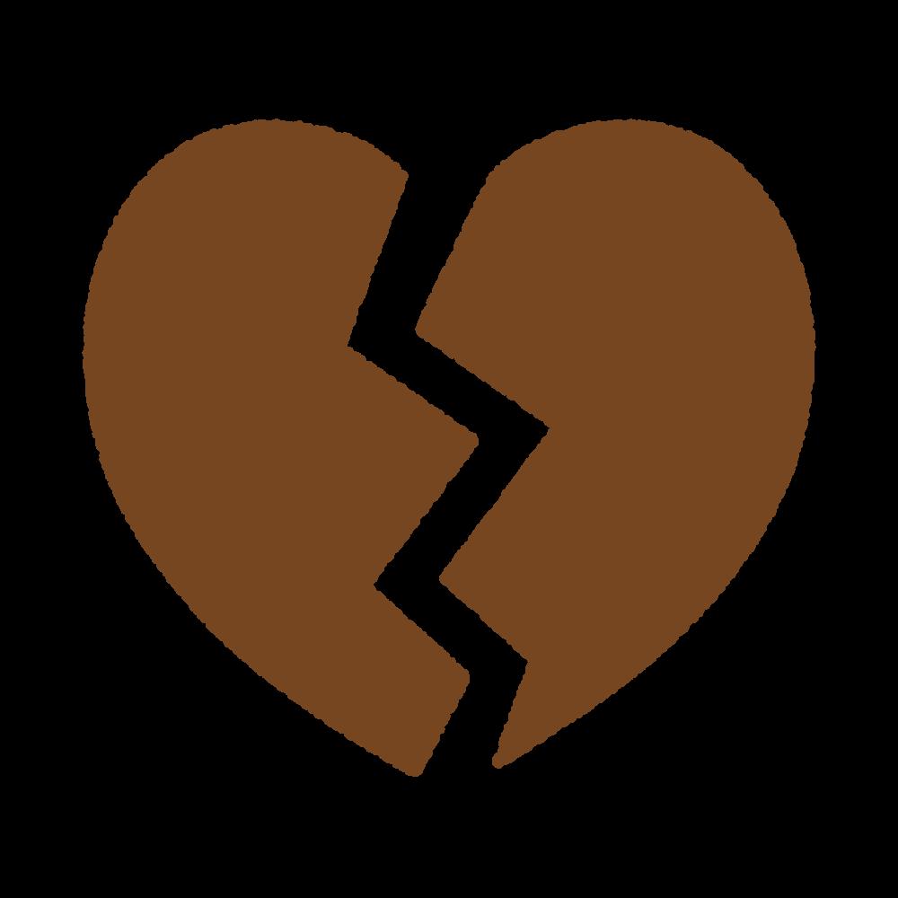 ハートブレイクのシルエット heart-break_silhouette_brown