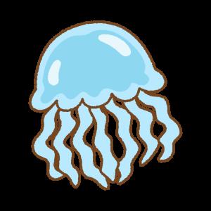クラゲのフリーイラスト Clip art of jellyfish