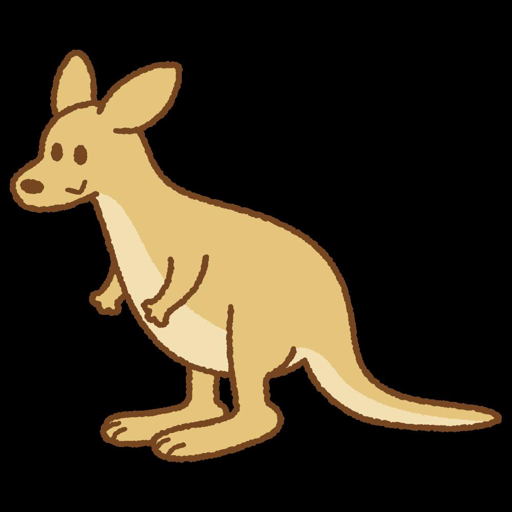 カンガルーのフリーイラスト Clip art of kangaroo