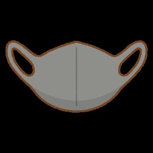 黒いマスクのフリーイラスト Clip art of black mask