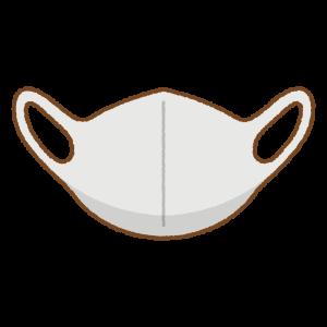 グレーのマスクのフリーイラスト Clip art of gray mask