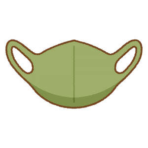緑のマスクのフリーイラスト Clip art of green mask