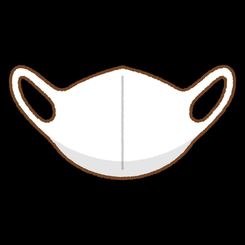 白いマスクのフリーイラスト Clip art of white mask