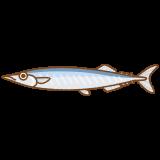 サンマのフリーイラスト Clip art of pacific-saury