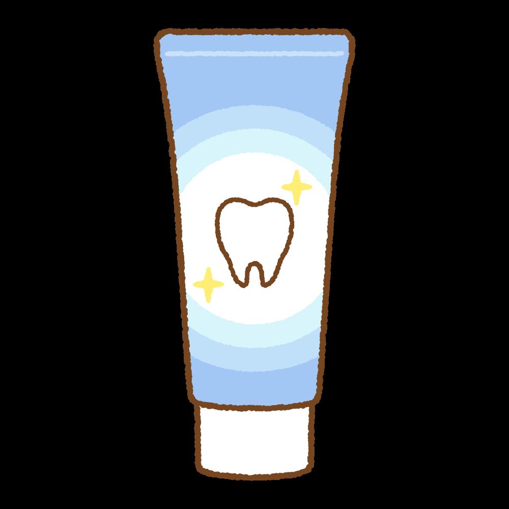 歯磨き粉のフリーイラスト Clip art of tooth-paste