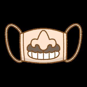 ユニークマスクのフリーイラスト Clip art of unique-mask