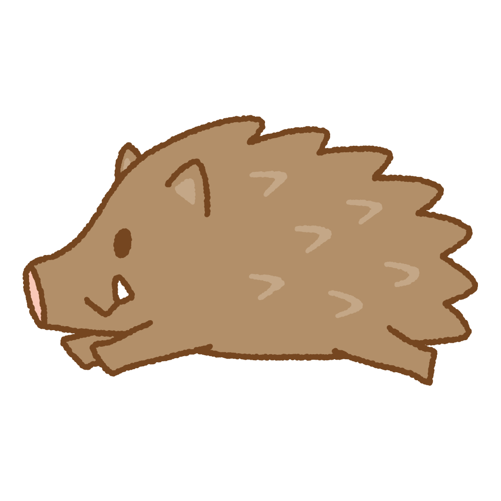 イノシシのフリーイラスト Clip art of wild boar