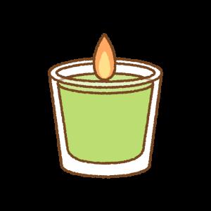アロマキャンドルのフリーイラスト Clip art of aroma-candle