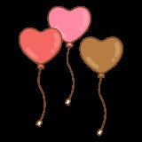 ハートの風船のフリーイラスト Clip art of heart balloon