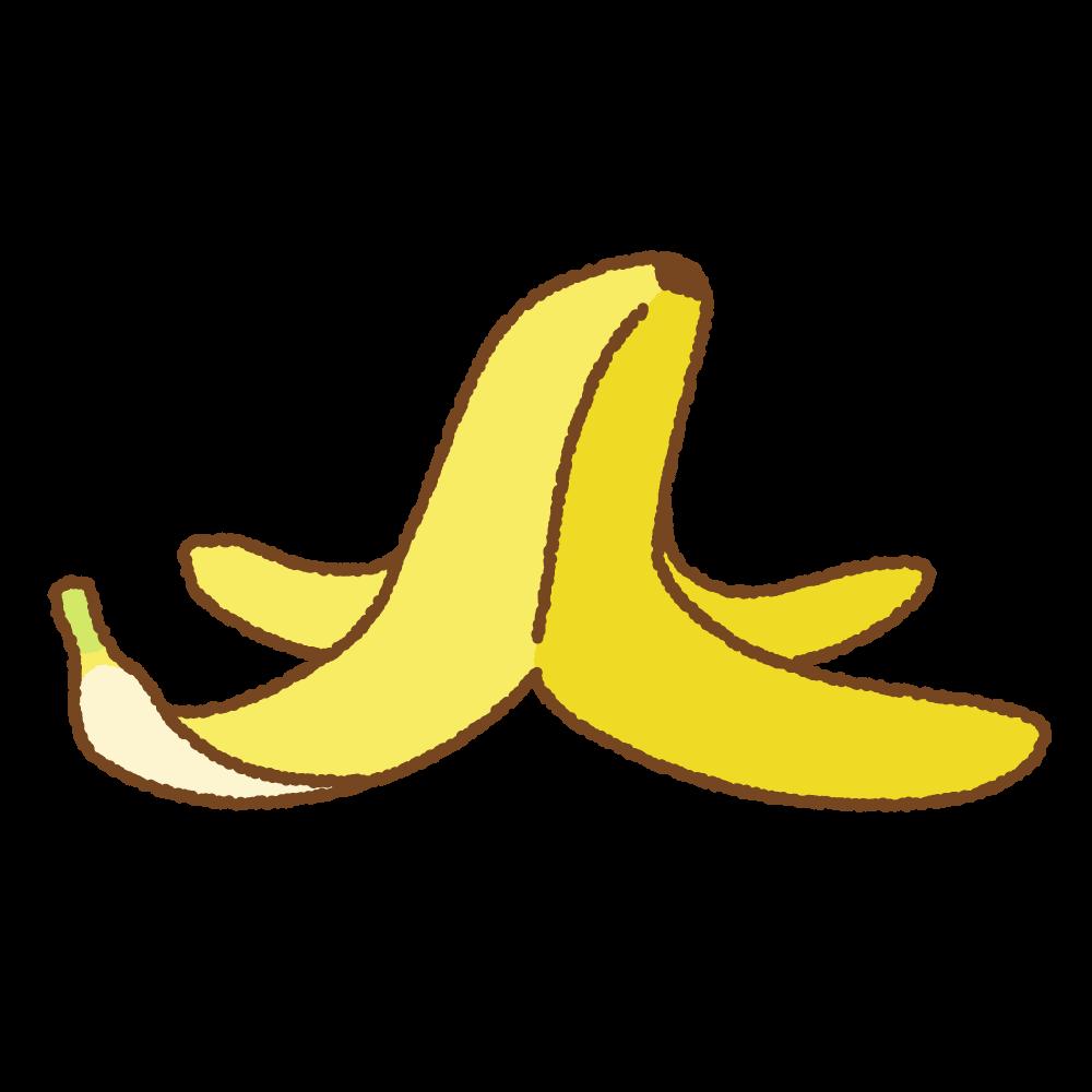 バナナの皮のフリーイラスト Clip art of banana-peel