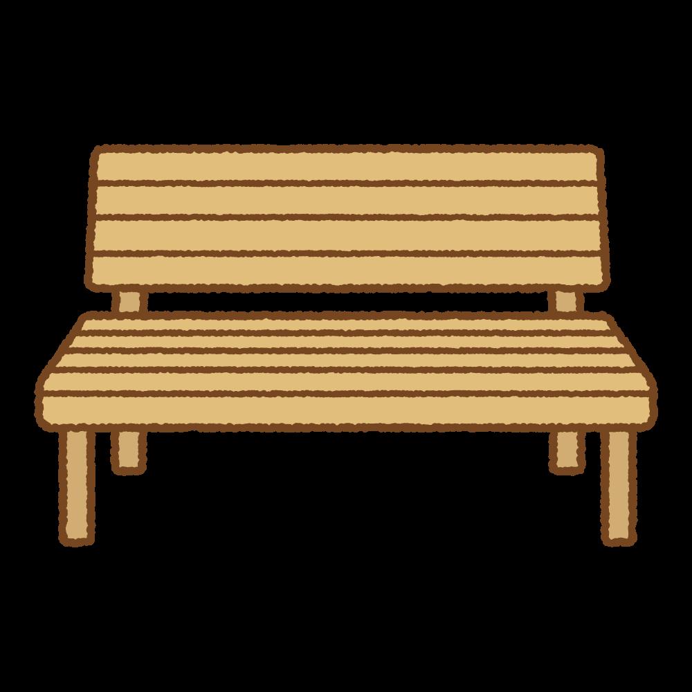 ベンチのフリーイラスト Clip art of bench