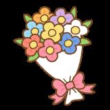 花束のフリーイラスト Clip art of bouquet