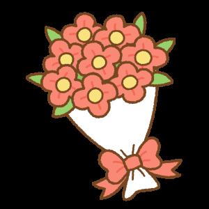 花束のフリーイラスト Clip art of red bouquet