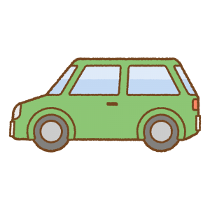 クルマのフリーイラスト Clip art of car