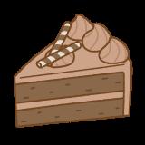 チョコレートケーキのイラスト