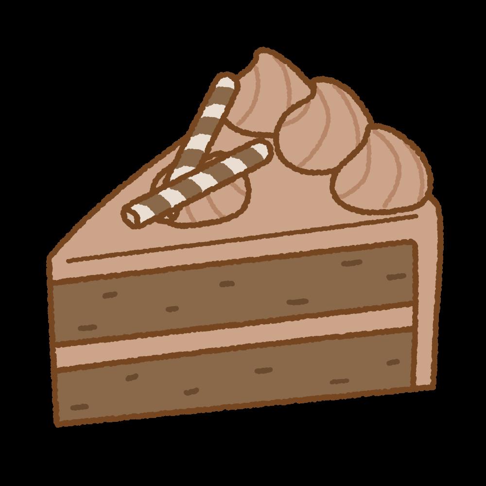 チョコレートケーキのフリーイラスト Clip art of chocolate-cake