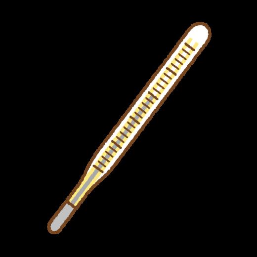 水銀体温計のイラスト