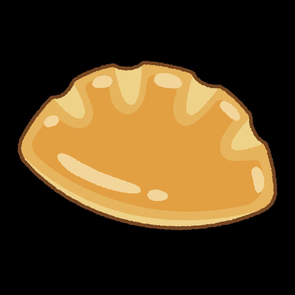 クリームパンのフリーイラスト Clip art of cream-pan