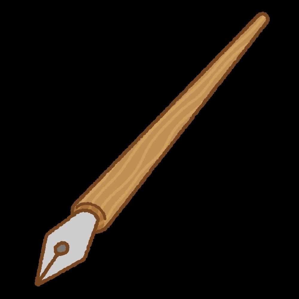 つけペンのフリーイラスト Clip art of dip-pen