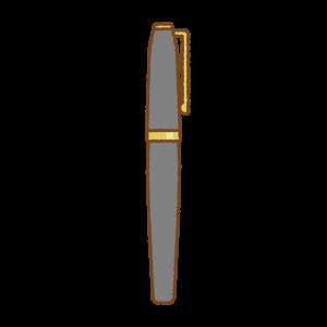 万年筆のフリーイラスト Clip art of fountain-pen