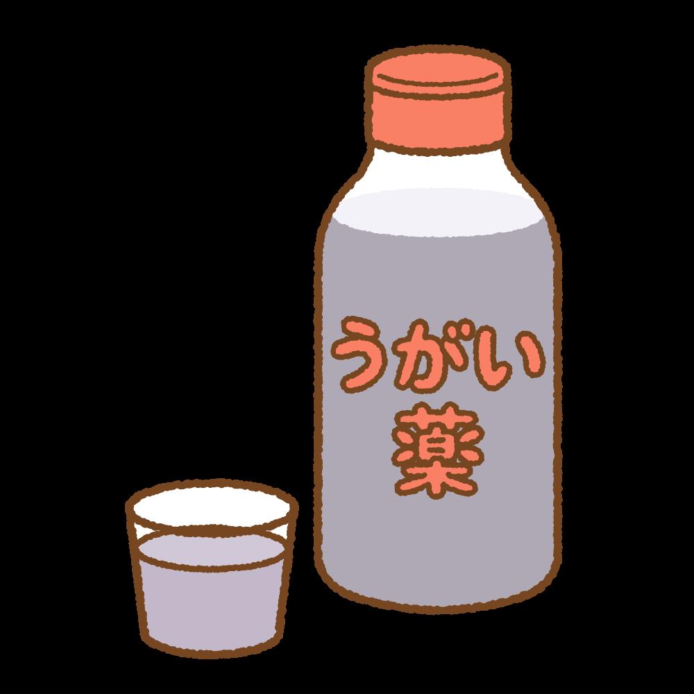 うがい薬のフリーイラスト Clip art of gargle-liquid