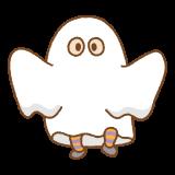 シーツおばけのフリーイラスト Clip art of ghost-costume