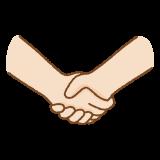 握手のフリーイラスト Clip art of handshake