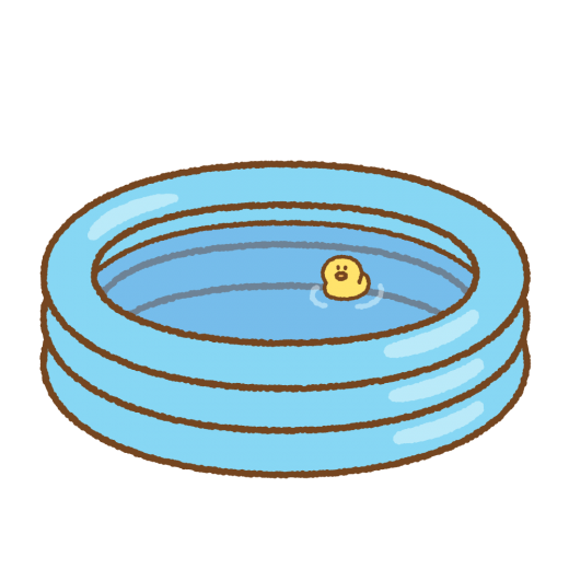 ビニールプールのイラスト