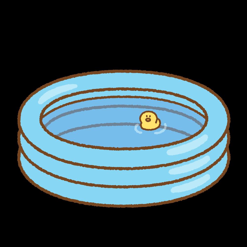 ビニールプールのフリーイラスト Clip art of inflatable-pool