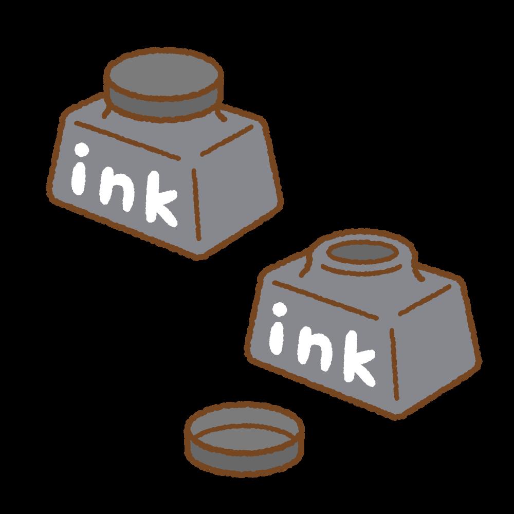 インクのフリーイラスト Clip art of ink