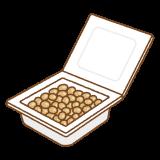 納豆のフリーイラスト Clip art of natto