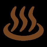 温泉マークのシルエット Clip art of onsen-mark silhouette