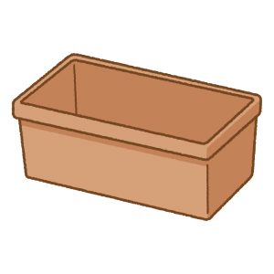 茶色のプランターのフリーイラスト Clip art of planter