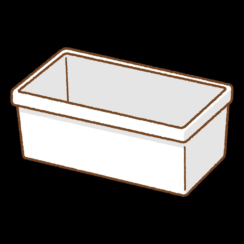 白いプランターのフリーイラスト Clip art of white planter