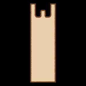 レジ袋のフリーイラスト Clip art of plastic-bag