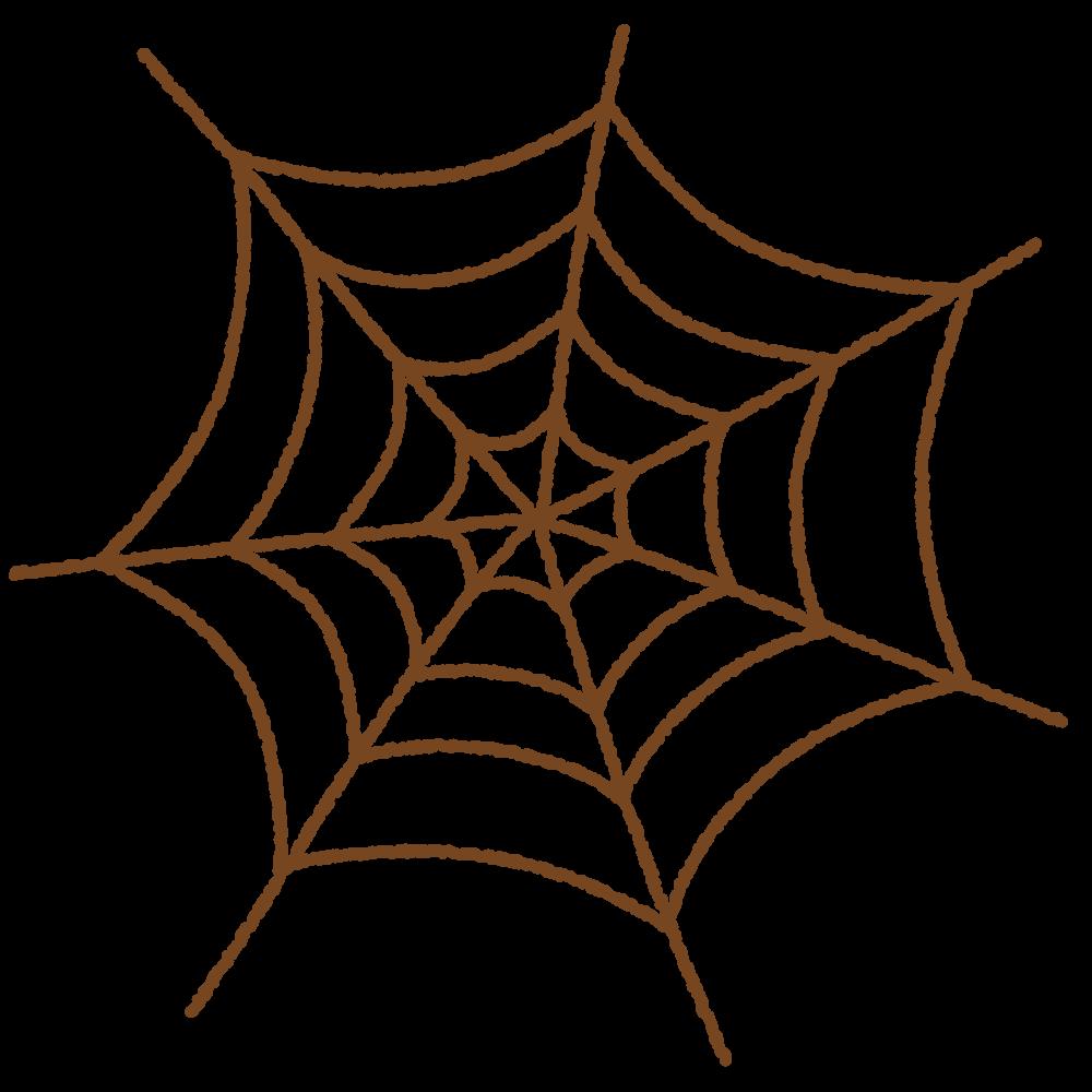 クモの巣のフリーイラスト Clip art of spiderweb