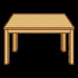 木のテーブルのフリーイラスト Clip art of wood-table