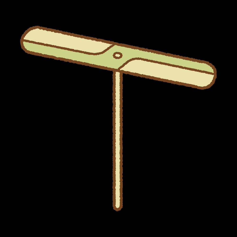 竹とんぼのフリーイラスト Clip art of take-tonbo
